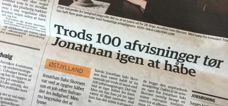 Trods 100 afvisninger tør Jonathan igen at håbe
